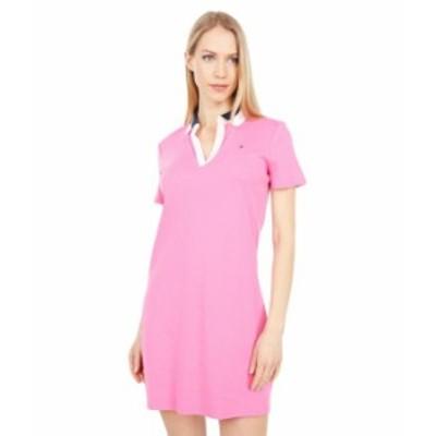 トミー ヒルフィガー レディース ワンピース トップス Split Neck Polo Dress Dahlia Multi