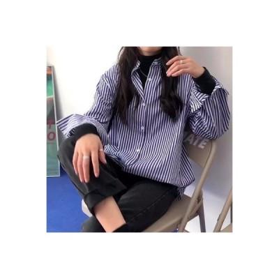 【送料無料】秋 ストライプのシャツ 女 デザイン 感 小 韓国風 ルース 何でも | 364331_A63773-1769732