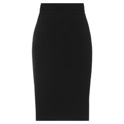 アニヤバイ ANIYE BY ひざ丈スカート ブラック 40 ポリエステル 63% / レーヨン 33% / ポリウレタン 4% ひざ丈スカート