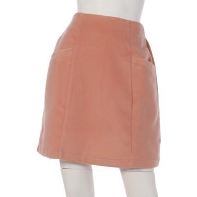 Ray Cassin (レイカズン) レディース シャギー無地台形スカート ピンク FREE