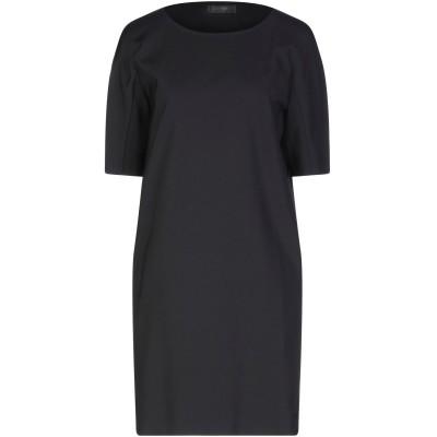 CALVIN KLEIN COLLECTION ミニワンピース&ドレス ブラック 42 ナイロン 50% / コットン 45% / ポリウレタン 5