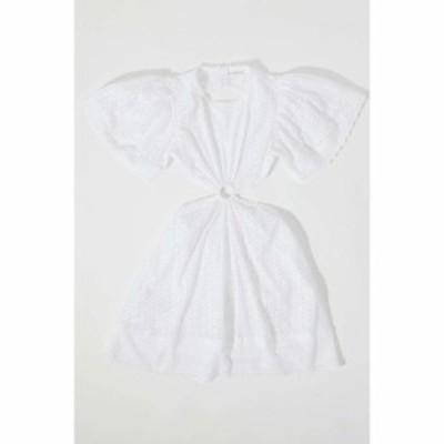 マイア バーグマン Maia Bergman レディース ワンピース ミニ丈 ワンピース・ドレス Caroline Eyelet Cutout Mini Dress White