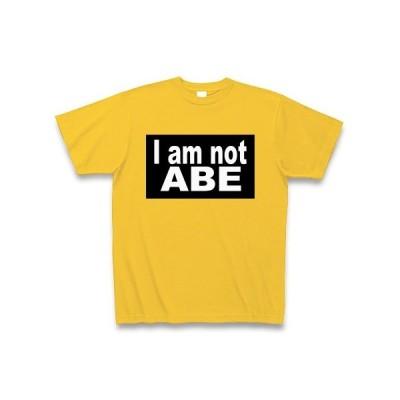 I am not ABE 白文字 Tシャツ Pure Color Print(ゴールドイエロー)