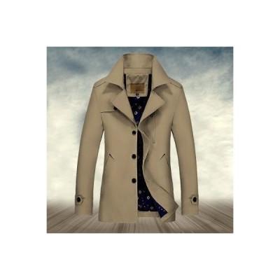 トレンチコート メンズ ビジネスコート 大きいサイズ 無地 ひざ丈 通勤アウタ 秋冬アウター 無地 防寒 ウールコート ジャケット