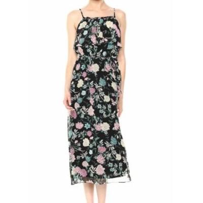kensie ケンジー ファッション ドレス Kensie NEW Black Womens Size Medium M Floral-Print Ruffle Maxi Dress