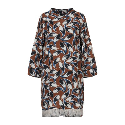 KATE BY LALTRAMODA ミニワンピース&ドレス ブラウン S ポリエステル 92% / ポリウレタン 8% ミニワンピース&ドレス