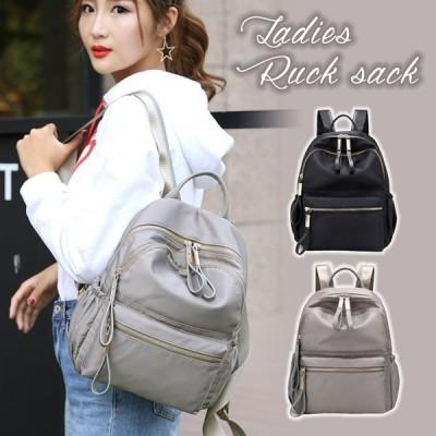 リュック リュックサック レディース レディースバッグ 大容量 バッグ かばん 鞄 ブラック グレー 女の子  シンプル かわいい  ファッション おしゃれ 8U89