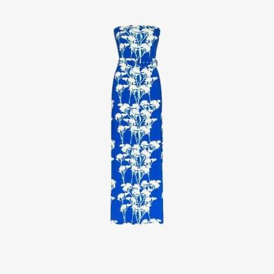 ベルナデッタ Bernadette レディース パーティードレス ノースリーブ マキシ丈 ワンピース・ドレス carrie daisy print sleeveless maxi dress blue