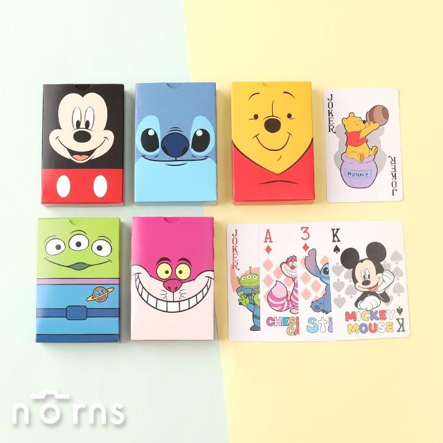 迪士尼撲克牌 大臉系列- Norns 正版授權 小熊維尼 三眼怪 史迪奇 妙妙貓 米奇