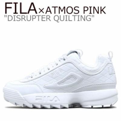 フィラ スニーカー FILA DISRUPTER QUILTING ディスラプター キルティング ATMOS PINK WHITE F0309-0001 シューズ