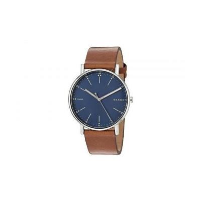 Skagen スカーゲン メンズ 男性用 腕時計 ウォッチ ファッション時計 Signatur Three-Hand Men's Watch - SKW6355 Silver Brown Leather