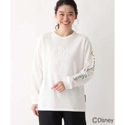 tシャツ Tシャツ DISNEY ディズニー/ミッキーマウス/エンボス加工 ポンチロンT