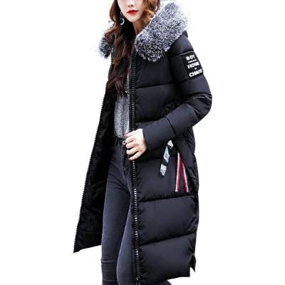 [ラクサス] LA035-R60-BKM アウター レディース 女の子 ダウンコート ロングコート フード付き ファー付き 大人カジュアル 大人可愛い