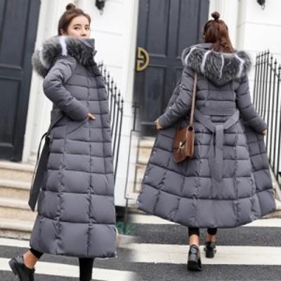 ダウンコート 韓国 オルチャン ファッション ふわふわ ロングコート 無地 防寒 オフィスカジュアル きれいめ 体型カバー マニッシュ スト