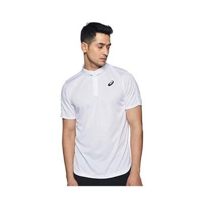 アシックス テニスウエア CLUB ポロシャツ 2041A040 メンズ ブリリアントホワイト EU Mサイズ