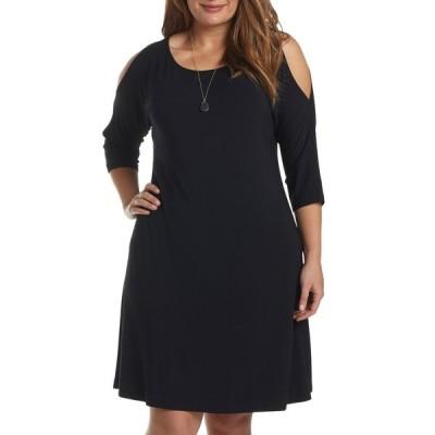 タルト レディース ワンピース トップス Naya Cold Shoulder A-Line Dress BLACK