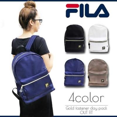 B5FILA リュック メンズ レディース フィラ ゴールドファスナー リュックサック バッグ 鞄 ブランド おしゃれ fm2044
