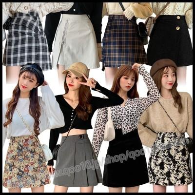 【2枚送料無料】韓国ファッションニュースタイルロングスカートミッドスカートミニスカートプリーツスカートチェック柄スカート韓国スカート