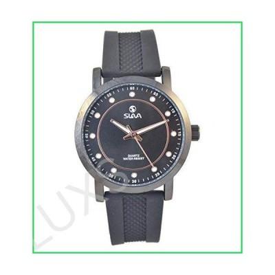 スラバSL10380BBBクォーツアナログ防水メンズ腕時計革バンド 並行輸入品
