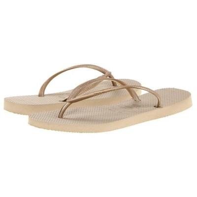 ハワイアナス サンダル レディース Slim Flip Flops Sand Grey/Light Golden