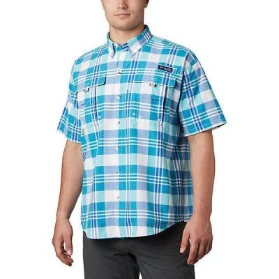 【倍倍ストア】(取寄)コロンビア メンズ スーパー バハマ ショートスリーブ シャツ Columbia Men's Super Bahama SS Shirt Bright Aqua Multi Plaid 倍々ストア