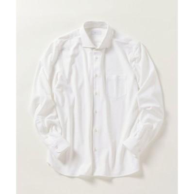 シャツ ブラウス SHIPS any: 《イージーケア》ジャージー セミワイドカラー シャツ◇