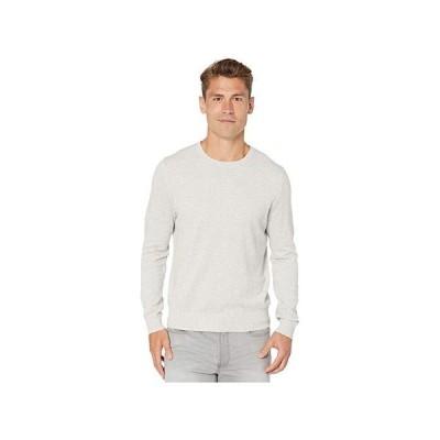 J.Crew Cotton-Cashmere Pique Crewneck Sweater メンズ セーター Heather Silver