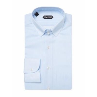 トムフォード Men Clothing Striped Cotton Dress Shirt