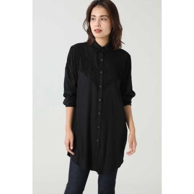 フリンジシャツ ブラック