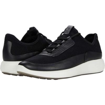 エコー ECCO レディース スニーカー シューズ・靴 Soft 7 Runner Summer Sneaker Black/Black/Black Cow Leather/Textile