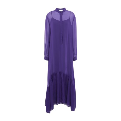 8PM ロングワンピース&ドレス パープル XXS レーヨン 100% ロングワンピース&ドレス