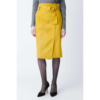 【ピンキーアンドダイアン/PINKY&DIANNE】 ◆フェイクスエードリングベルトスカート