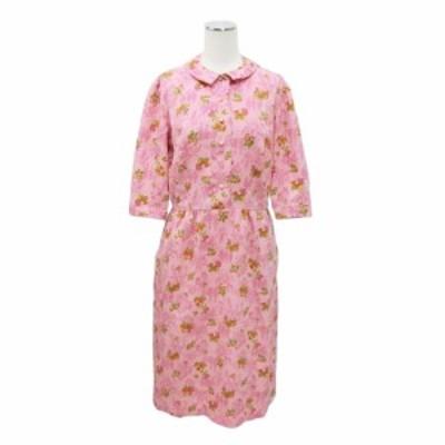 Select Floral half sleeve dress セレクト 古着 花柄 五分袖 ワンピース 087931【中古】