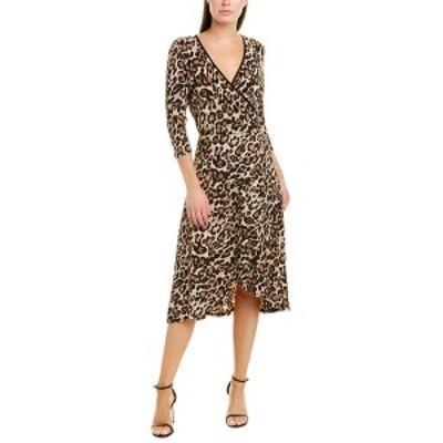ティアナビー レディース ワンピース トップス Tiana B. Faux Wrap Dress leopard print