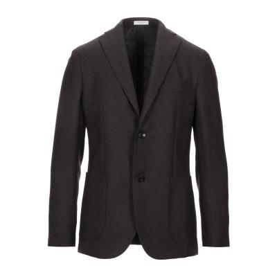 ボリオリ BOGLIOLI テーラードジャケット ダークブラウン 46 バージンウール 100% テーラードジャケット