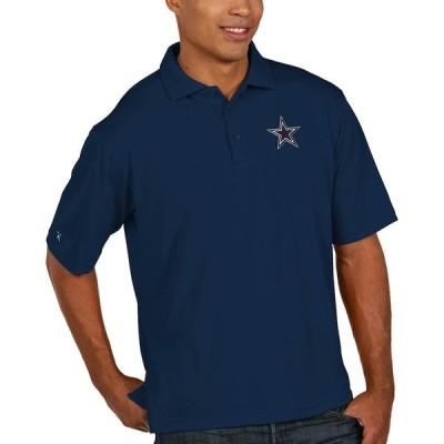 """メンズ ポロシャツ """"Dallas Cowboys"""" Antigua Pique Xtra-Lite Polo - Navy"""
