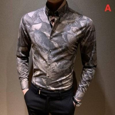 カジュアルシャツ リント 長袖シャツ メンズ シャツ ボタンダウンシャツ 開襟 ワイシャツ トップス スリム おしゃれ 形態安定