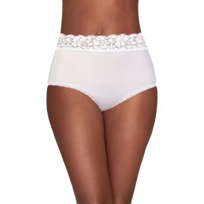 バニティフェア Vanity Fair レディース ショーツのみ インナー・下着 Flattering Lace Brief Panty 13281 Brief/Nylon/White