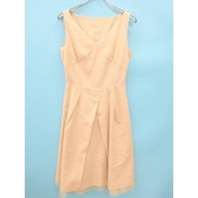 ROPE(ロペ)裾プリーツタックドレスワンピース ノースリーブ ピンク レディース Aランク 9