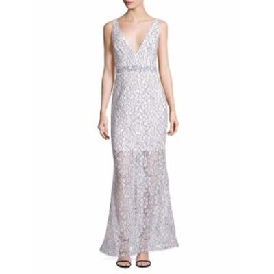 ニコラス レディース ワンピース French Lace Deep V-Neck Gown