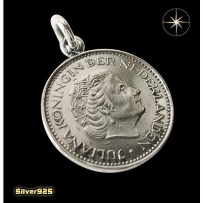 本物のオランダのコインペンダント(1) メイン ヨーロッパ コイン 硬貨 ペンダント ネックレス