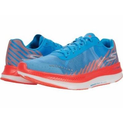 スケッチャーズ メンズ スニーカー シューズ Go Run Razor Excess Blue/Coral