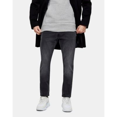 トップマン Topman メンズ ジーンズ・デニム スキニー・スリム ボトムス・パンツ organic slim jeans in black ブラック