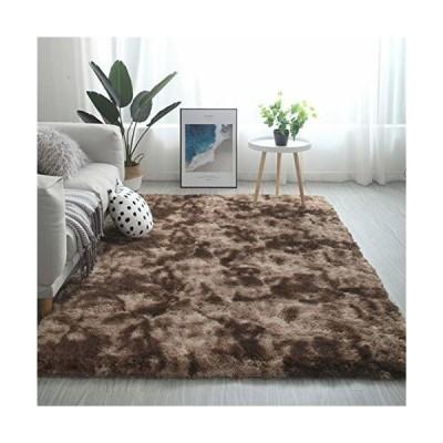 HW ZONE カーペット 洗えるラグ 北欧 長方形 ラグマット極厚毛足約4.0cm 絨毯 防ダニ 滑り止め付 抗菌 防臭 ふわ