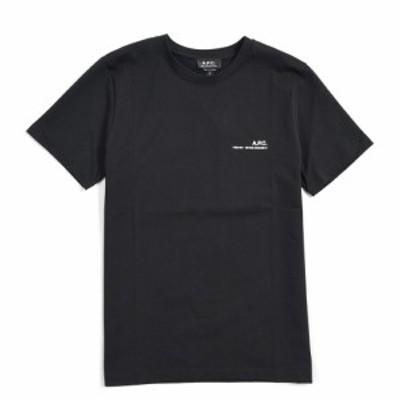 【2021年 春夏新作】A.P.C アーペーセー クルーネック Tシャツ 半袖 春夏 メンズ コットン 100% ロゴ ブラック
