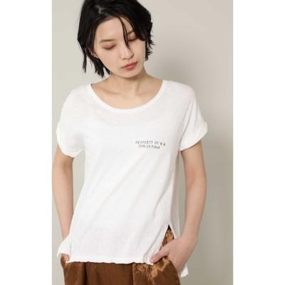 [7月号GISELe掲載]ロゴTシャツ ホワイト