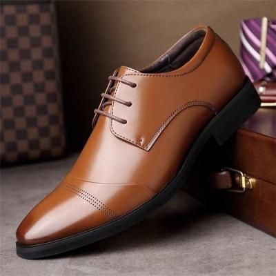 革靴 男性 メンズ 紳士靴 ビジネスシューズ シークレットシューズ ファッション ビジネス カジュアル レザー 通勤 HY0910024-2