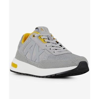 アルマーニ スニーカー シューズ メンズ Men's Logo Sneakers Light Grey