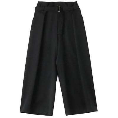 <LIMI feu(Women)/リミフゥ> W/Gabardine Belt Wide Pants ブラック【三越伊勢丹/公式】