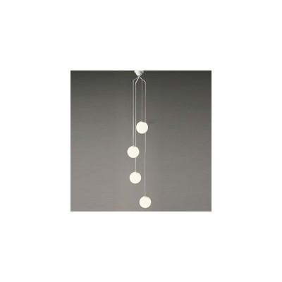 オーデリック LEDシャンデリア 白熱灯50W×4灯相当 電球色 電動昇降装置対応 コード調節器付 OC257106LD